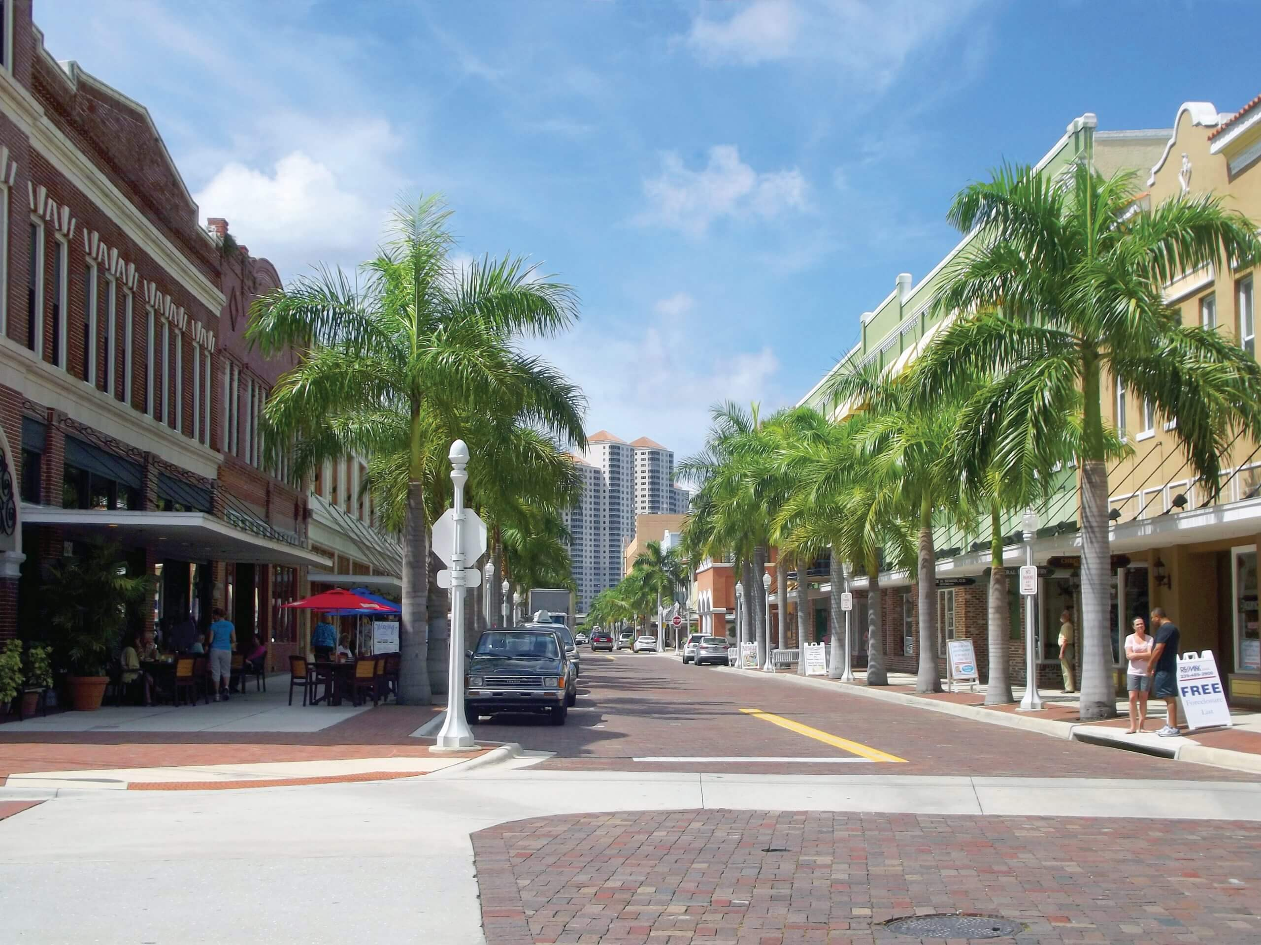 Downtown Fort Myers First Street Intersection