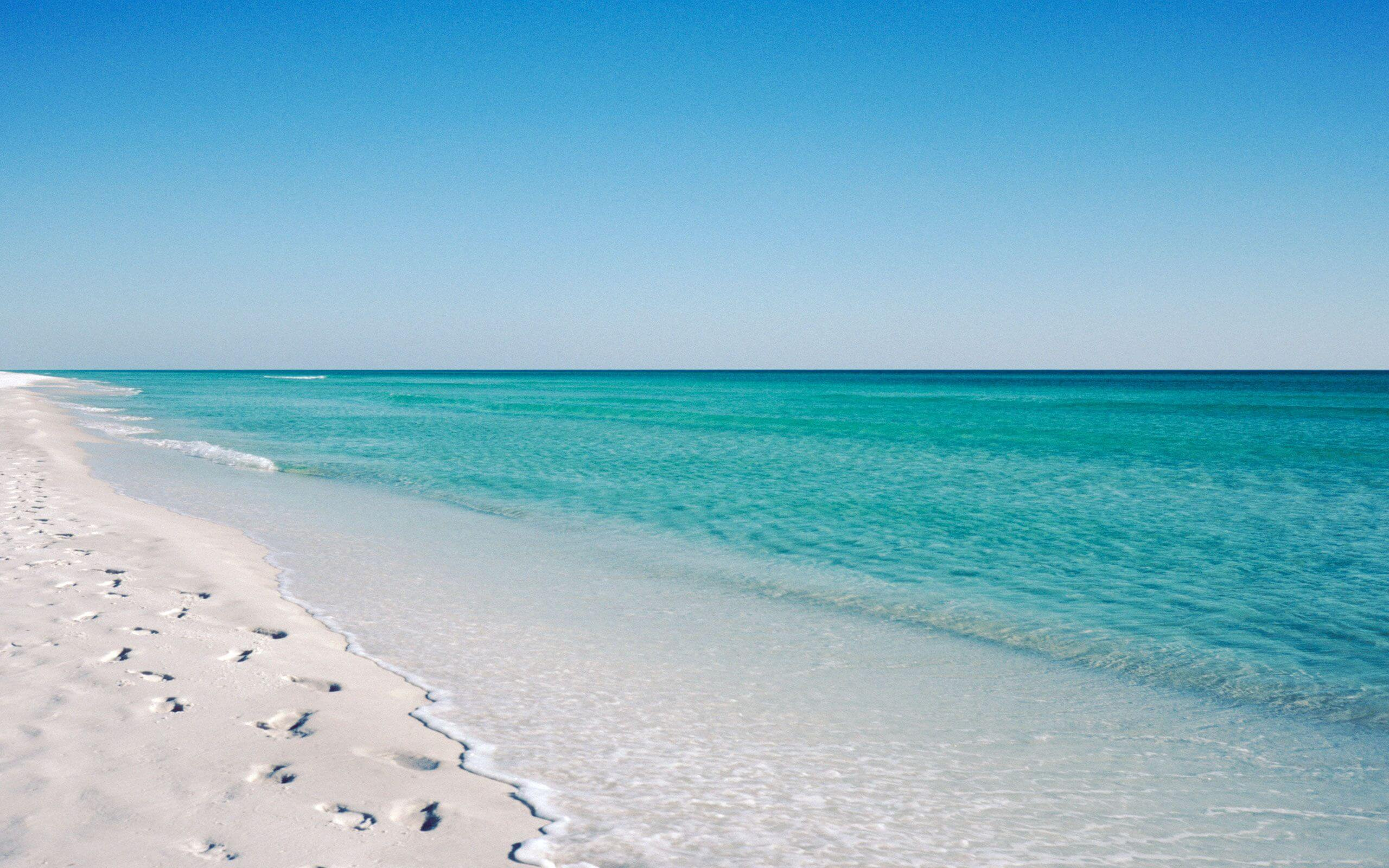 Clear waters on the beach