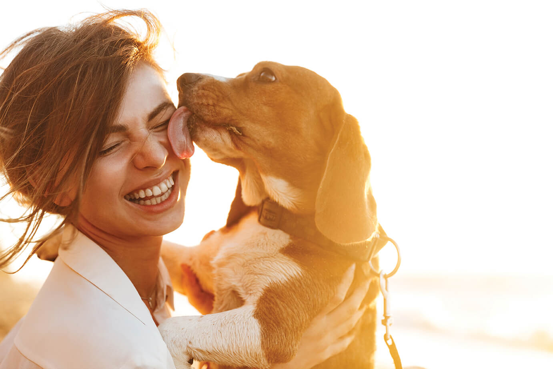 Happy Women and Dog - Pet Friendly Amenities