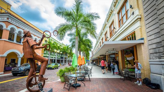 Downtown Fort Myers Florida along First Street