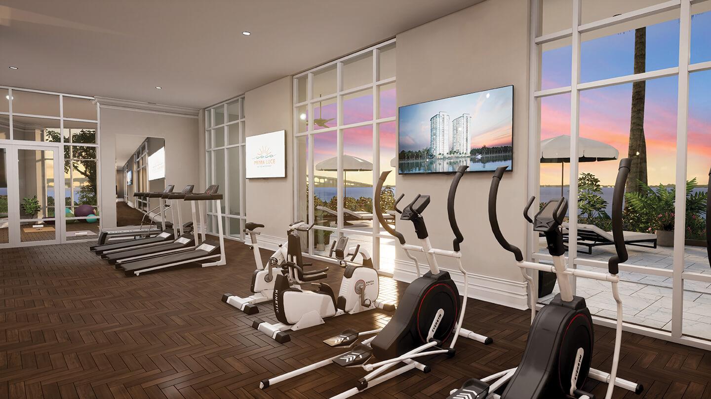 Luxury Amenities - Fitness Center, Sunset View
