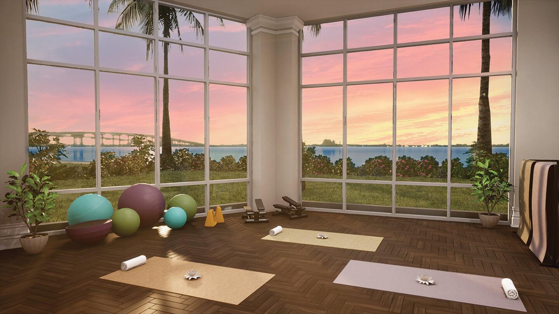 Yoga Studio Luxury Amenities Sunset View
